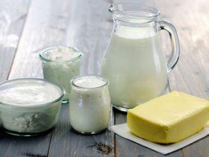 Молочный продукты при молочнице