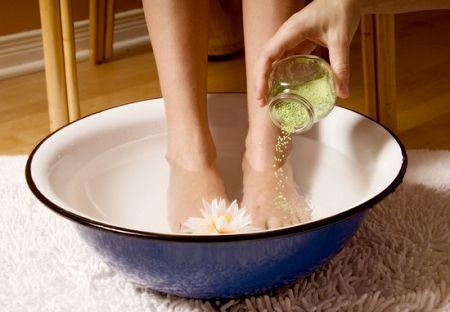 Соляные ванночки при грибке стопы